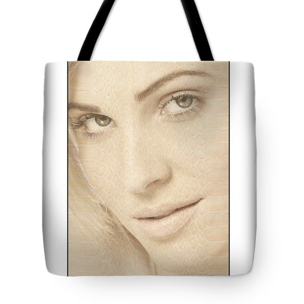 Blonde Girl's Face Tote Bag