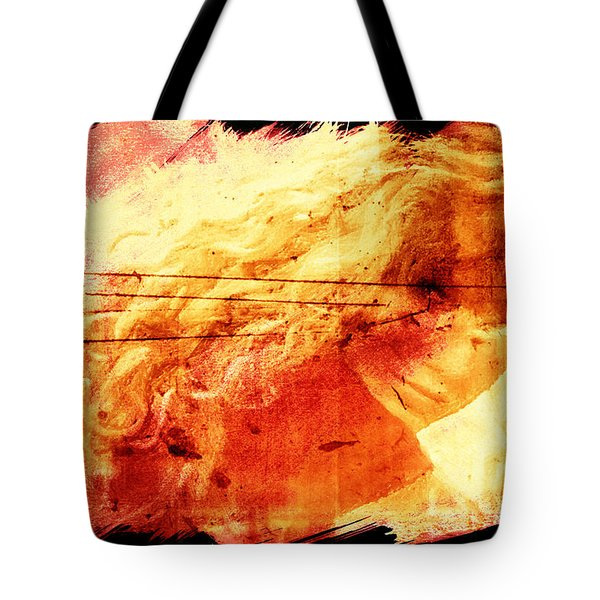 Blonde On Red Fire Tote Bag