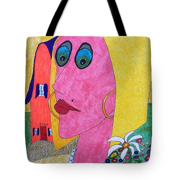 Blonde W/pearl Necklace Tote Bag