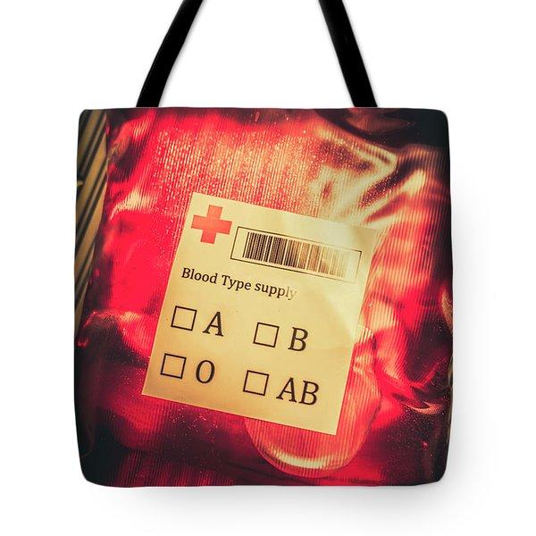 Blood Donation Bag Tote Bag