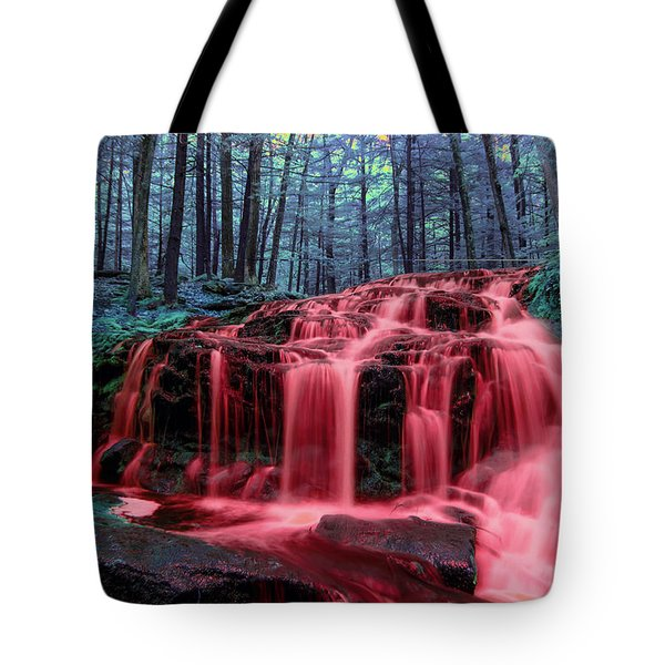 Tote Bag featuring the photograph Blood Falls 1 by Brian Hale