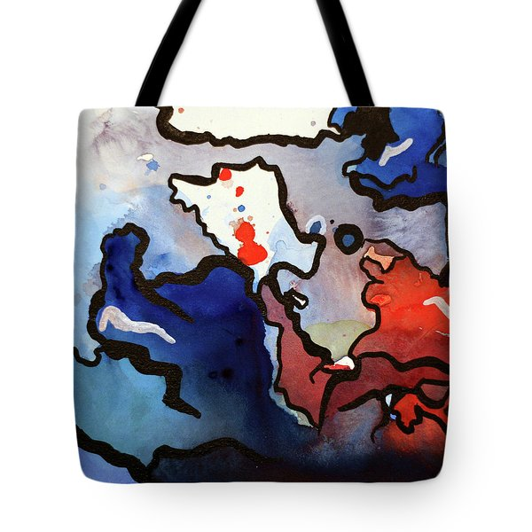 Blood In The Water 1 Of 4 Tote Bag