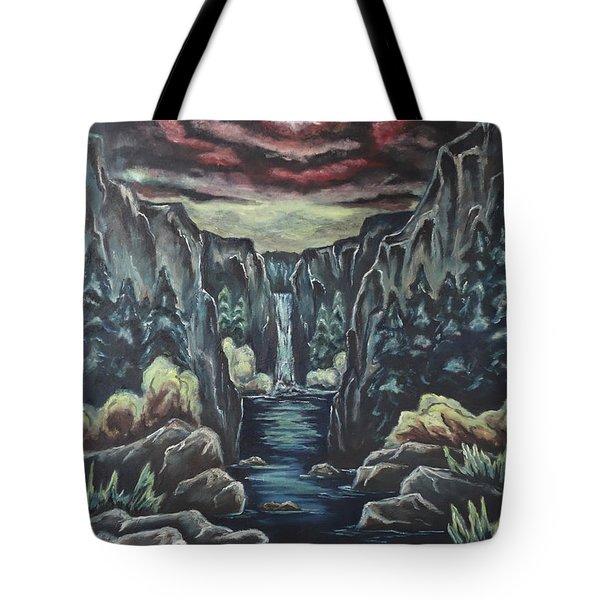 Blood Moon Tote Bag by Cheryl Pettigrew