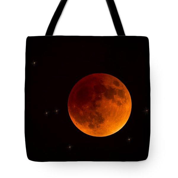 Blood Moon Lunar Eclipse 2015 Tote Bag