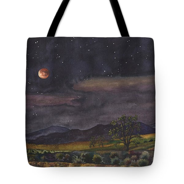 Blood Moon Over Boulder Tote Bag