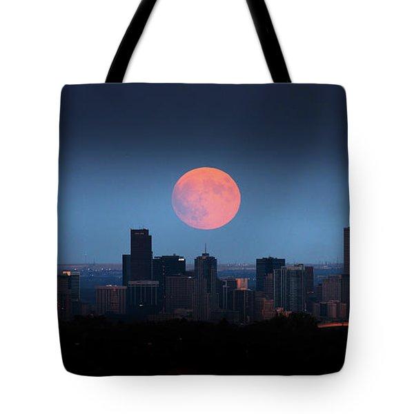 Blood Moon Over Denver Tote Bag
