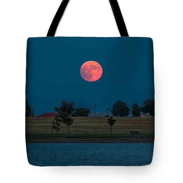 Blood Moon Rising Tote Bag