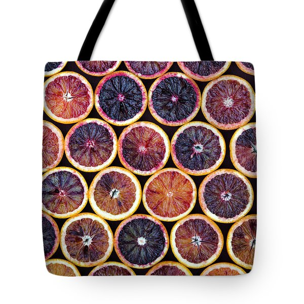 Blood Oranges Pattern Tote Bag by Tim Gainey