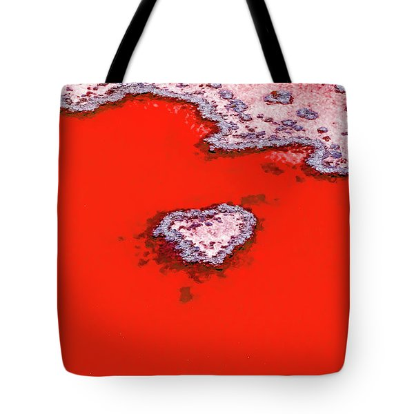 Blood Red Heart Reef Tote Bag