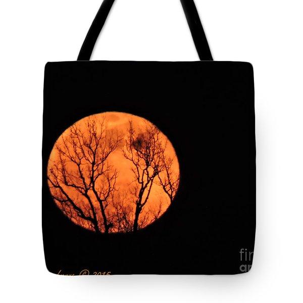 Blood Red Moon Tote Bag