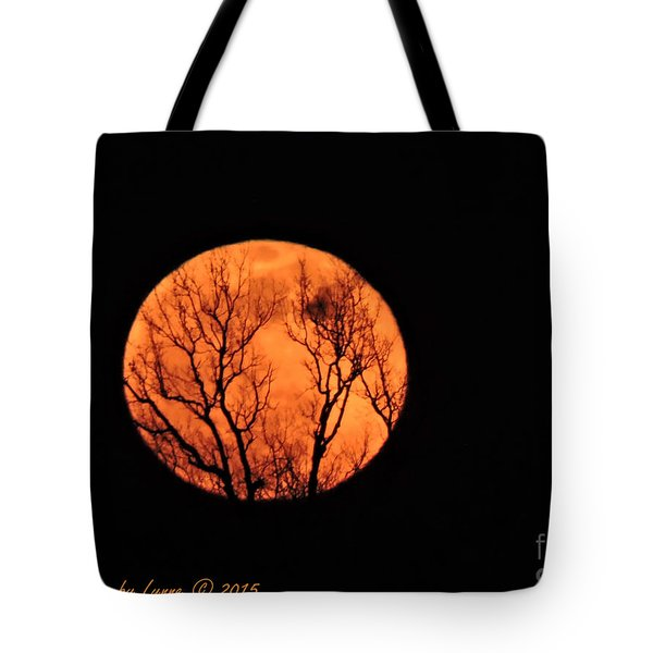 Blood Red Moon Tote Bag