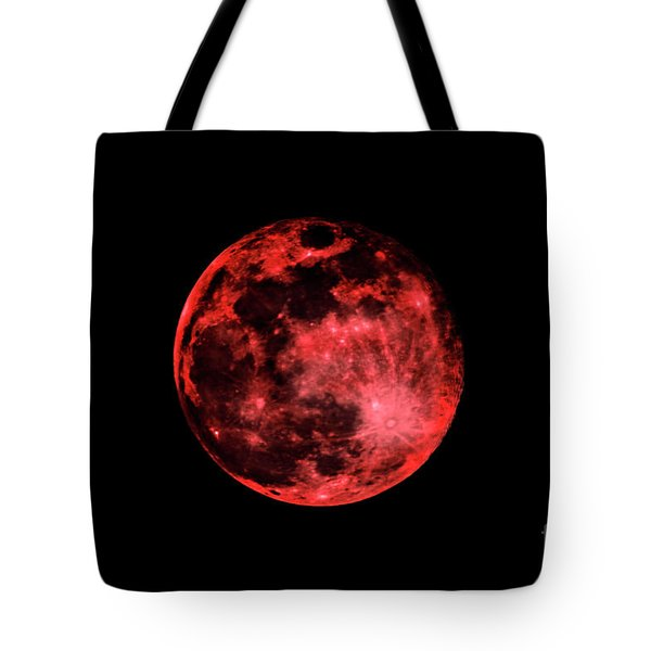 Blood Red Moonscape 3644b Tote Bag