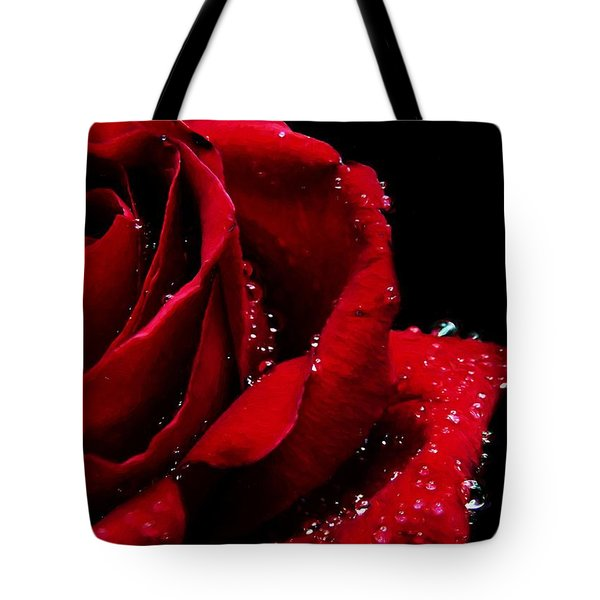 Blood Red Rose Tote Bag