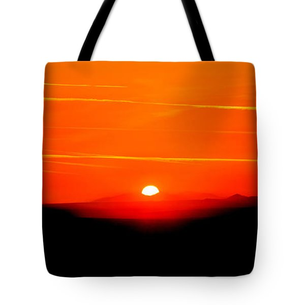 Blood Red Sunset Tote Bag
