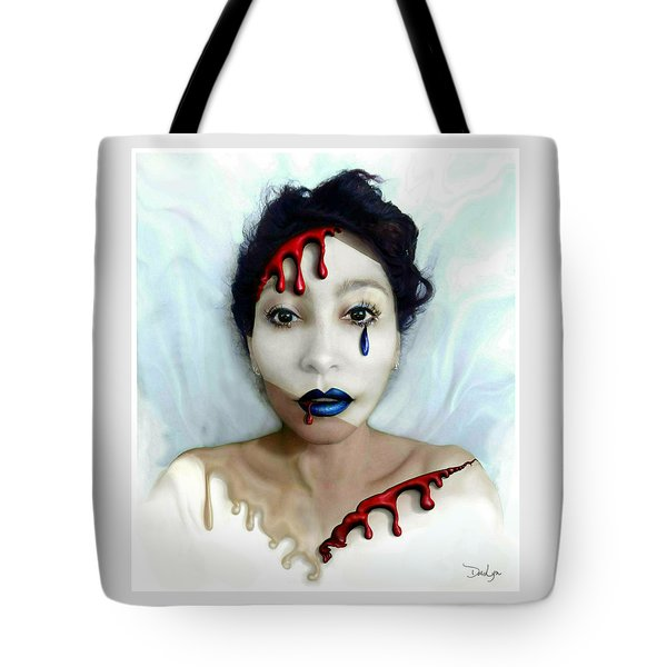 Blood Sweat Tears Faced Tote Bag