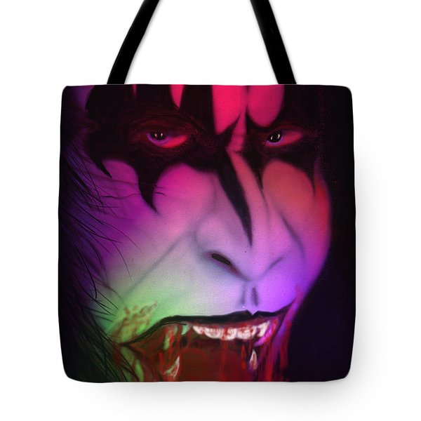 Tote Bag featuring the painting Bloody Demon by Kevin Caudill