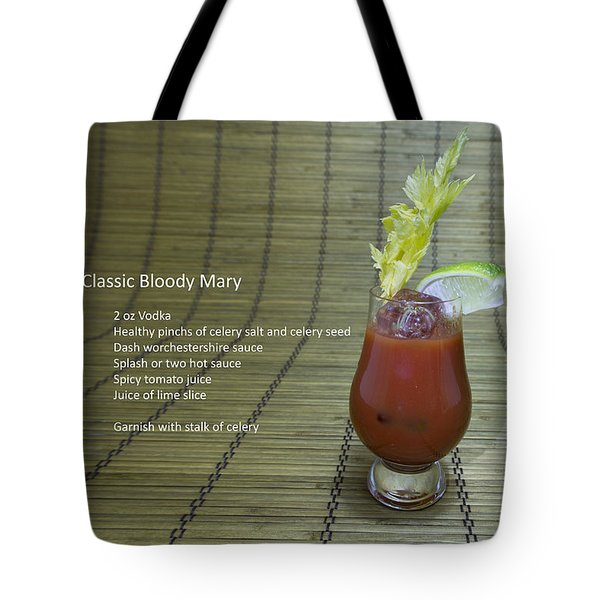 Bloody Mary, Bloody Caesar, Tomato Juice Tote Bag by Karen Foley