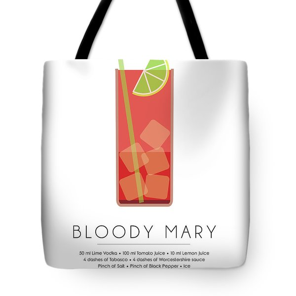 Bloody Mary Classic Cocktail - Minimalist Print Tote Bag