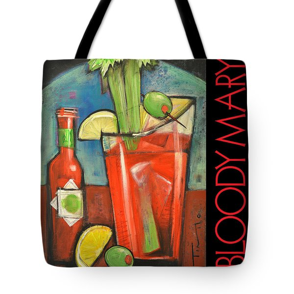 Bloody Mary Poster Tote Bag by Tim Nyberg