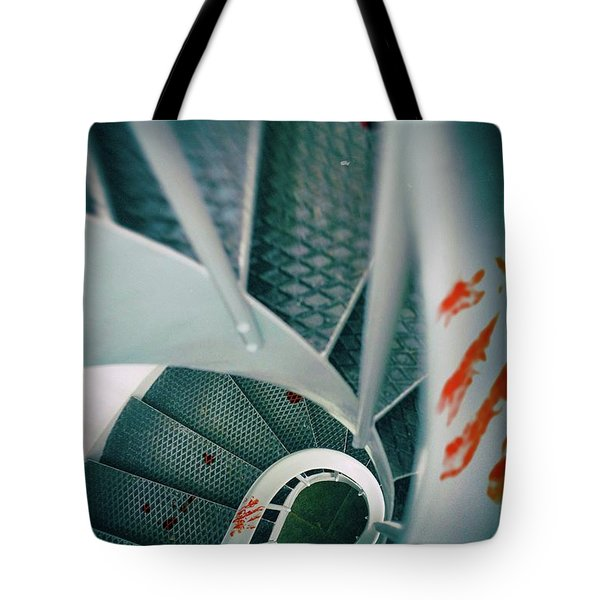 Tote Bag featuring the photograph Bloody Stairway by Carlos Caetano