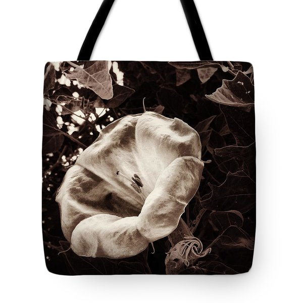 Bloom In Sepia Tote Bag