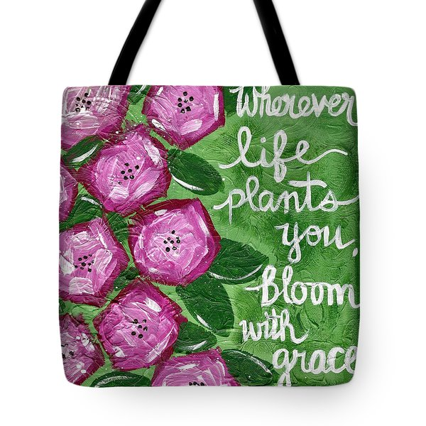 Bloom With Grace Tote Bag