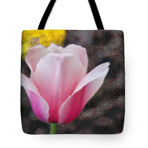 Tote Bag featuring the mixed media Bloomin' by Trish Tritz