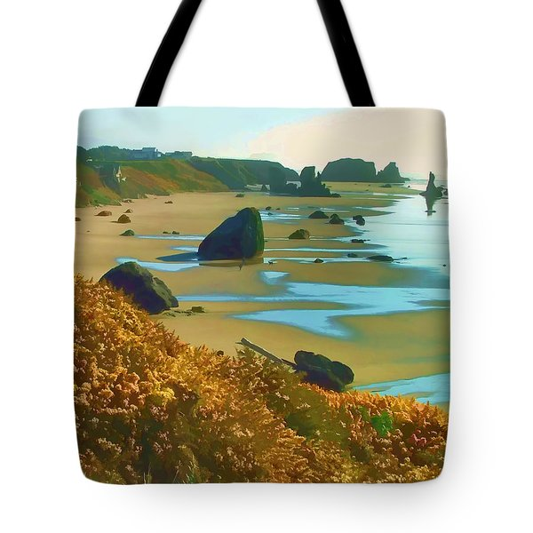 Blooming Bandon Watercolor Tote Bag