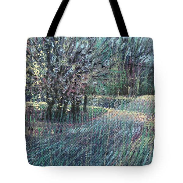 Tote Bag featuring the drawing Blooming Bradford by Donald Maier