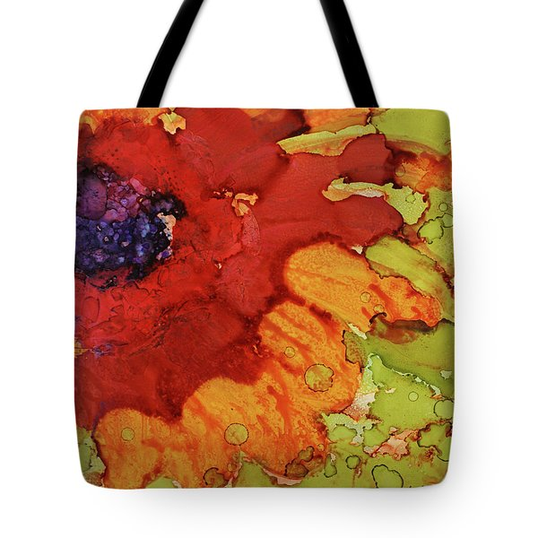 Tote Bag featuring the painting Blooming Cactus by Cynthia Powell