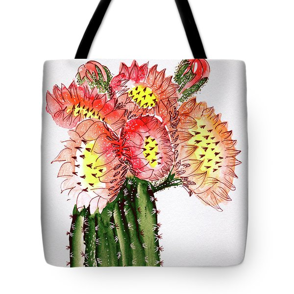 Blooming Cactus Tote Bag