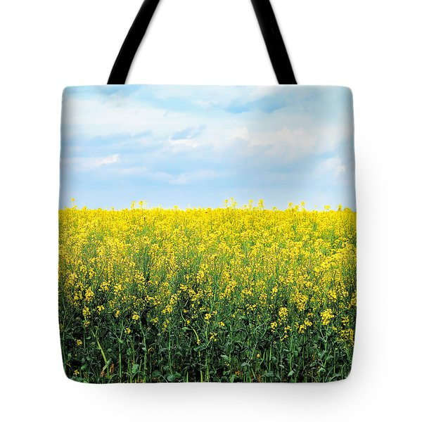 Tote Bag featuring the photograph Blooming Canola - Photography by Ann Powell