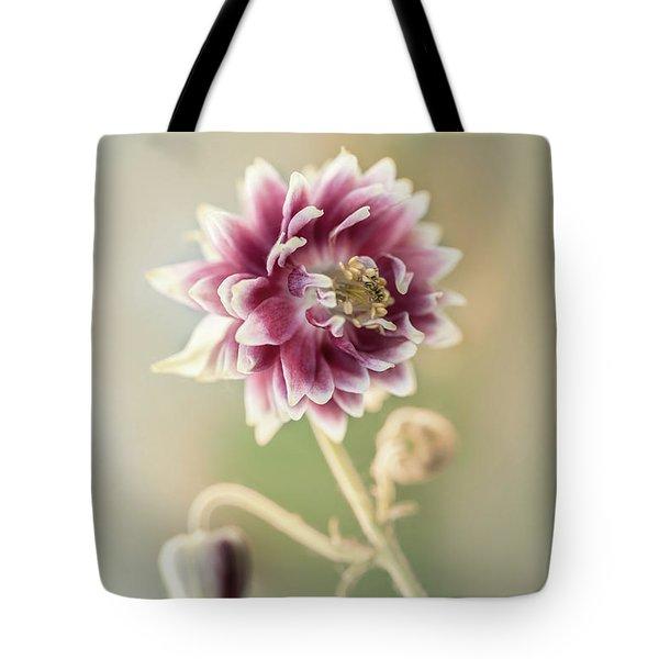 Blooming Columbine Flower Tote Bag