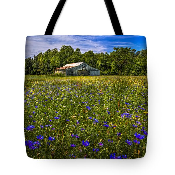 Blooming Country Meadow Tote Bag by Marvin Spates