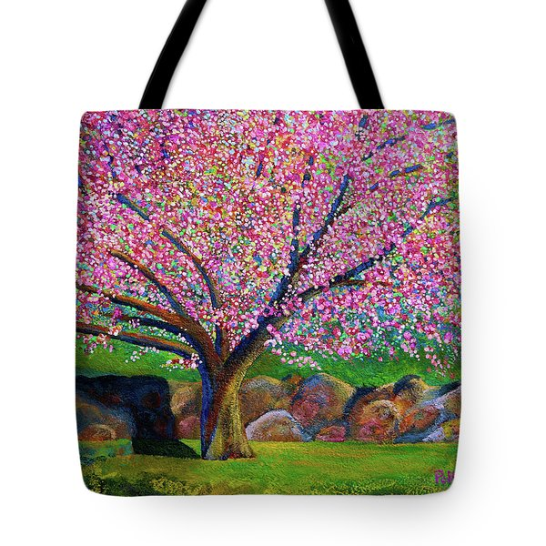 Blooming Crabapple In Evening Light Tote Bag