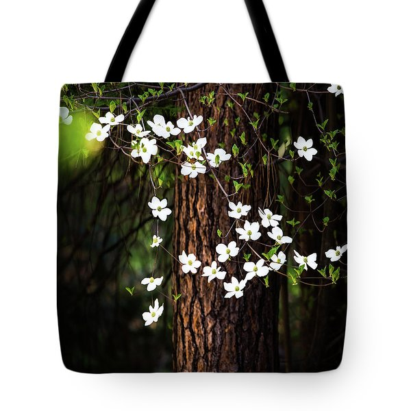 Blooming Dogwoods In Yosemite Tote Bag