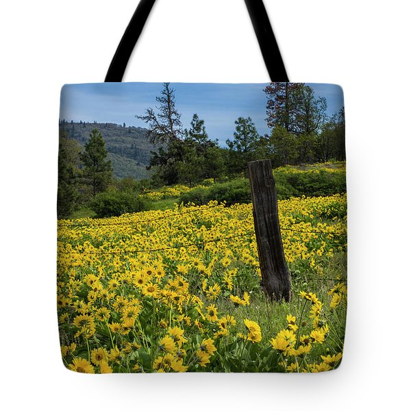 Blooming Fence Tote Bag