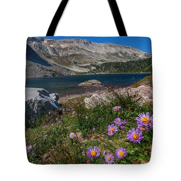 Blooming In Snowy Range Tote Bag