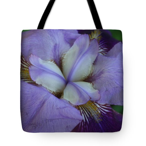 Tote Bag featuring the digital art Blooming Iris by Barbara S Nickerson