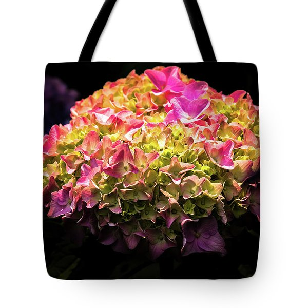 Tote Bag featuring the photograph Blooming Pink Hydrangea by Onyonet  Photo Studios