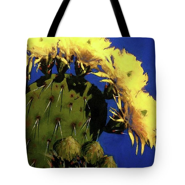Blooming Prickly Pear Tote Bag