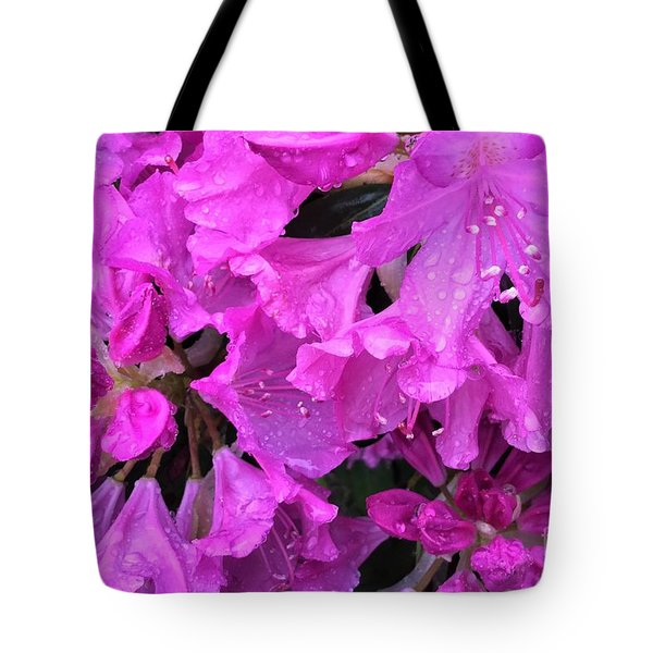Blooming Rhododendron Tote Bag