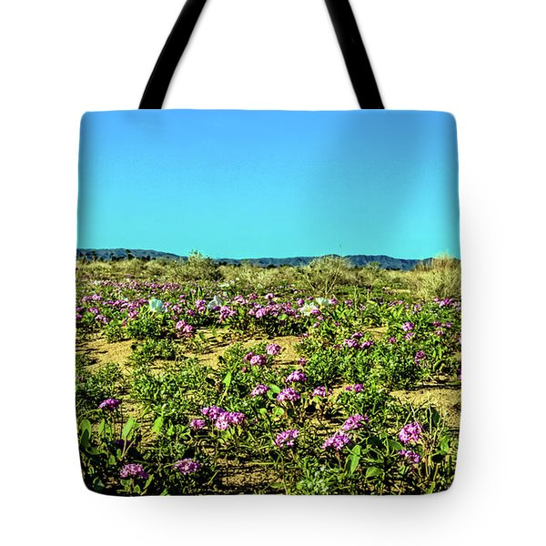 Tote Bag featuring the photograph Blooming Sand Verbena by Robert Bales
