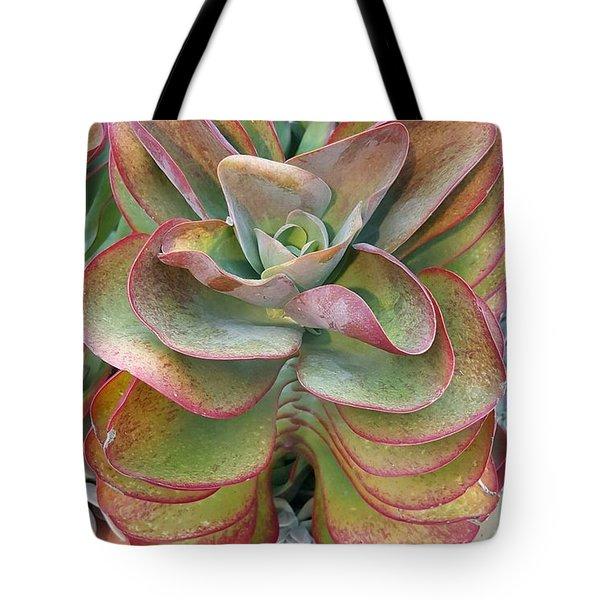 Blooming Succulent Tote Bag