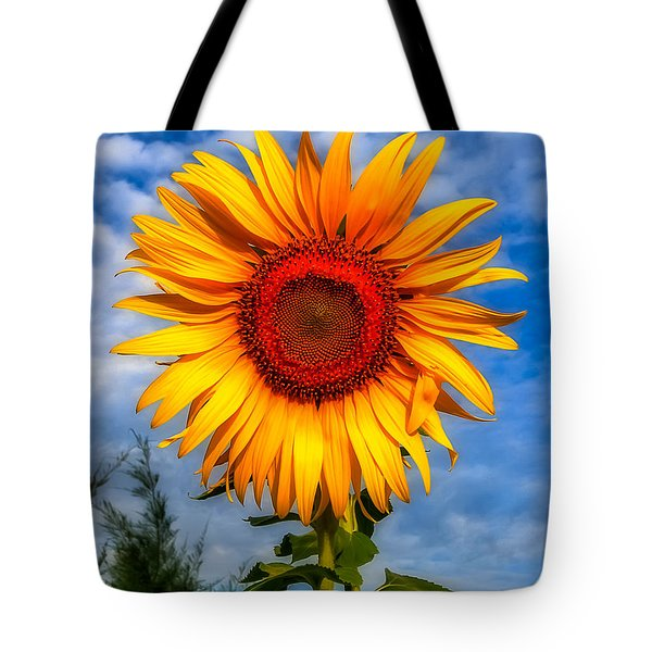 Blooming Sunflower  Tote Bag