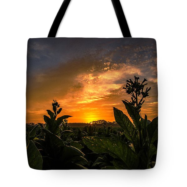 Blooming Tobacco Tote Bag
