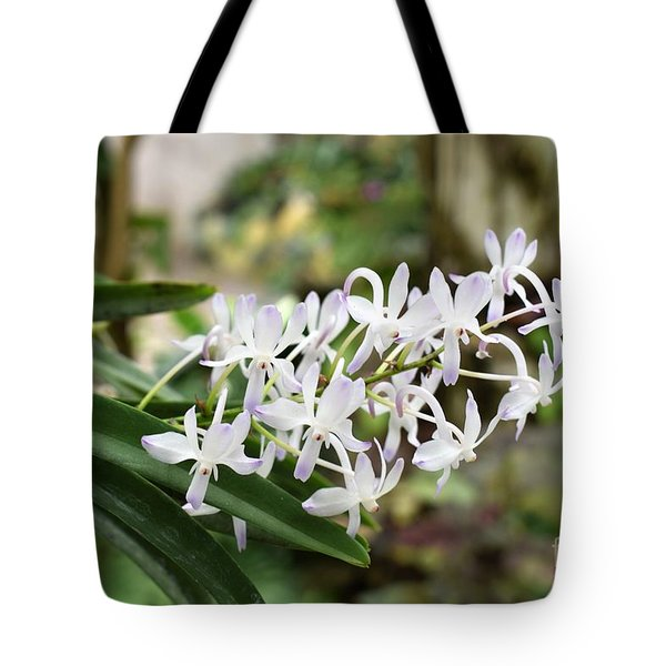 Blooming White Flower Spike Tote Bag