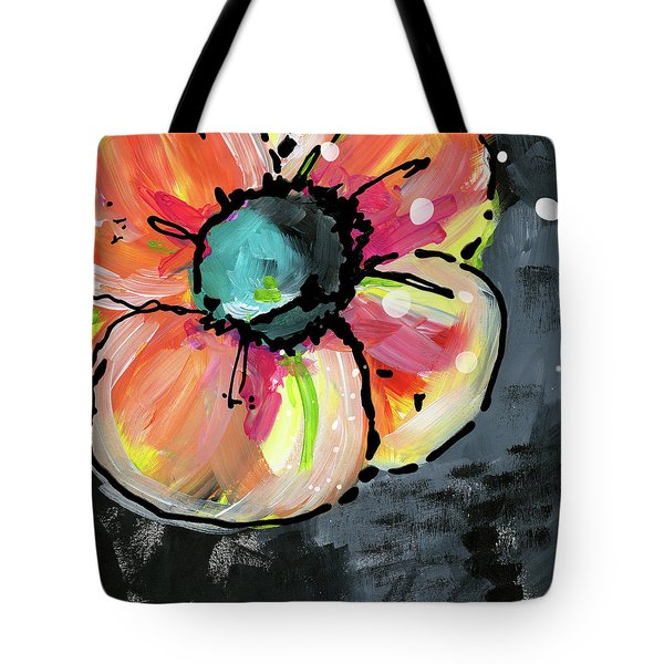 Tote Bag featuring the mixed media Blooming Wildflower- Art By Linda Woods by Linda Woods