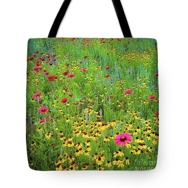 Blooming Wildflowers Tote Bag