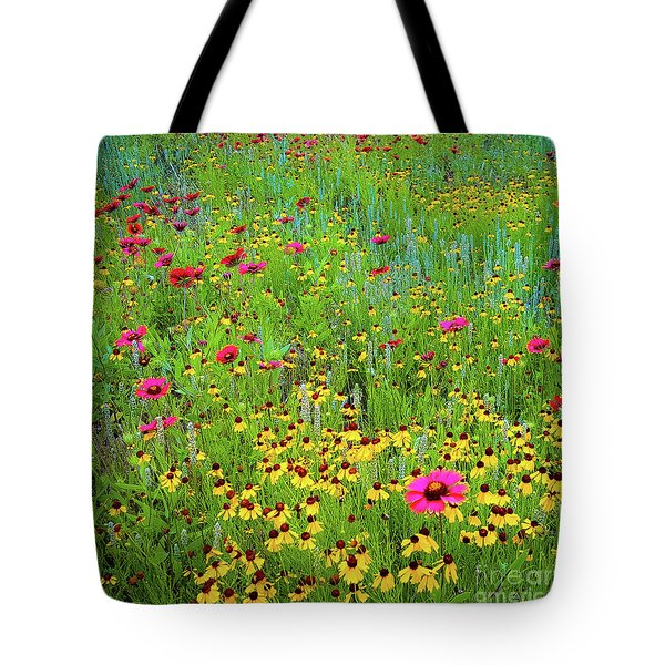 Blooming Wildflowers Tote Bag